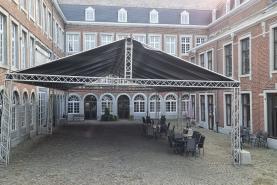Emplacement Location Toit géant, Tonnelle géante, Abri de pluie ,Couverture Abri de terrasse, Couverture Abri de place, 20m x 10m ou 10m x 10m
