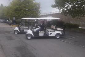 Emplacement Voiturette électrique (véhicule, golfcar, voiture de golf, golfette) de cérémonie (mariage, événements,...) -6 places
