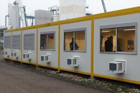 Emplacement Modules assemblés pour bureaux, classes, crèches, salles...