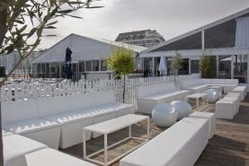 Emplacement Fauteuil Conic Lounge 1-siège blanc