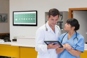 Emplacement Système d'affichage dynamique sur écran TV pour MAISON DE REPOS