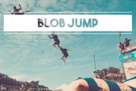 Emplacement Blob Jump - Coussin géant gonflable - Catapulte - Jeux nautiques sur la Meuse à Namur