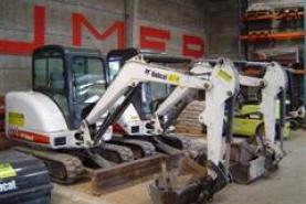 Emplacement Mini-pelles ou excavatrices - Machines de chantier pour secteur de la construction - Pelle hydraulique Bobcat