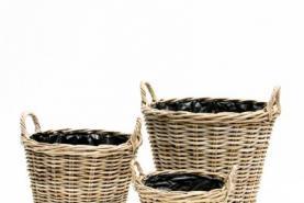 Emplacement Cache-pot en osier 40 cm - Pour plantes