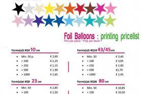 Emplacement Ballons Mylar - Ballons en aluminium - Impression sur gonflable