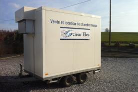 Emplacement remorque frigorifique / chambre froide mobile - 10 m3 max