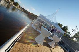 Emplacement Tente - Pagode carrée 100% transparente - Lieu de réception design