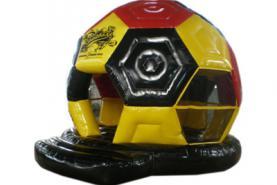 Emplacement Chateau gonflable Ballon de football noir jaune rouge (couleurs belgique)