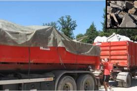 Emplacement Container - Conteneur 8m³, 10m³, 12m³, 15m³, 20m³, 30m³ & 45m³ - Transport de briques - Roche - Graviers - Pierres