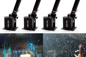 Emplacement Set de 4 bases de tir pour confettis