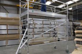 Emplacement Echafaudage aluminium roulant 2.20m Hauteur plancher