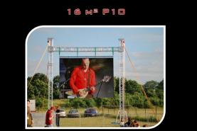 Emplacement Grand écran géant de 16m² avec une définition P10 - Affichage pour événements - Ecran promotionnel