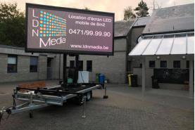 Emplacement Remorque publicitaire - écran géant mobile (1 face)