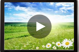 Emplacement Ecran vidéo 46 pouce (117 cm) - diffusion de différents supports de communication