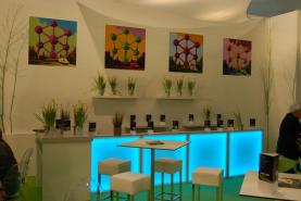Emplacement Stand modulaire Modulex - stand commercial pour salon, foire, événement avec cloisons, frontons, éclairage et tapis - gamme de 6 coloris