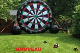 Emplacement foot darts - Château gonflable - Animation - Jeu d'extérieur (Verviers)