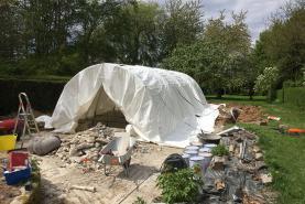 Emplacement Tente de Chantier (piscine - sablage (aérogommeuse, hydrogommeuse, bateau, voiture, - construction béton - ...)