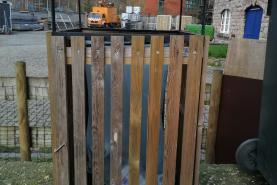 Emplacement Poubelles en bois pour vos événements
