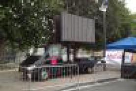 Emplacement Ecran Géant LED mobile 8 m² (P6 SMD) avec camion ou sur remorque