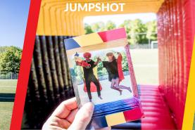 Emplacement Photos et videos dans un cube gonflable - Jumpshot