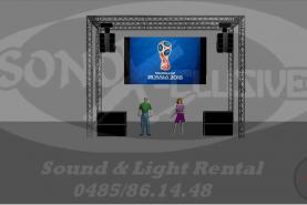 Emplacement KIT COMPLET: ecran led 10m² + Sonorisation Line Array