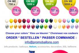 Emplacement Impression Ballons de baudruche gonflables à l'hélium ou à l'air