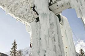Emplacement Mur d'escalade - Structure en glace