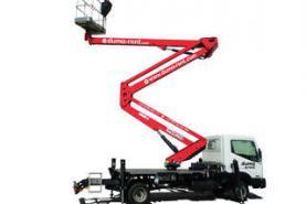 Emplacement Nacelle sur camionnette - Chariot élévateur articulé et mobile