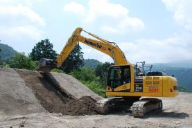 Emplacement Pelle hydraulique sur chenilles - Pelleteuse – Excavatrice avec guidage GPS