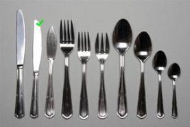 Emplacement Petit couteau entremets- Eternum - Vaisselle - Matériel traiteur - Couvert