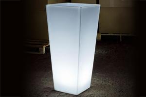 Emplacement Pots de fleurs lumineux à LED RGB - mobiliers extérieurs pour vos événements, foires, salons...