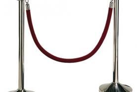 Emplacement Potelet avec corde rouge - Séparation - Délimitation - Barrière