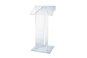 Emplacement Pupitre Plexi - Matériel de présentation pour vos événements: foires, salons, réceptions,...