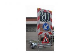 Emplacement Panneaux signalisations - Sécurisations de chantiers - PMV - Panneaux à messages variables pour travaux routiers, chantiers...
