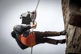 Emplacement Treuil de levage - Échafaudage personnel -  Treuil poulie - Corde pour travail en hauteur - Nacelle avec Rope Climber integré