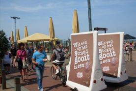Emplacement Eurobike - remorque d'affichage promotionnel à placer sur un vélo
