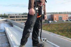 Emplacement Skywalk - Sécurité en hauteur - Protection des ouvriers - Point d'ancrage modulable et déplaçable