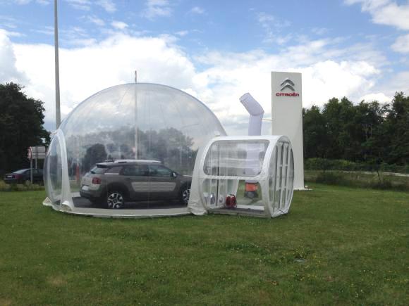 Emplacement Dôme - Sphère Gonflable avec sas + plancher - Bulle transparente gonflable - Plusieurs dimensions