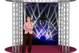 Emplacement Stand rond en location pour vos événements, foires, salons, réceptions...