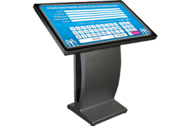 Emplacement Table interactive 46-55 pouce- écran tactile incliné sur pied