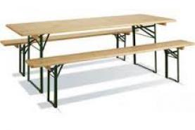 Emplacement Table de brasseur - Table à bière - Bancs - Mobilier événementiel