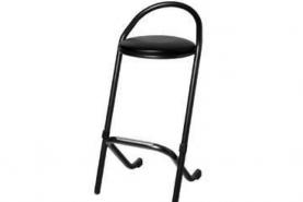 Emplacement Tabouret de bar en cuir noir - chaise haute