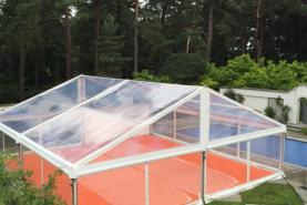 Emplacement Tente 10x10m transparente – 100m² - Chapiteau - Pagode - Tonelle