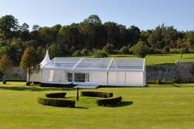 Emplacement Tente 10x15m transparente – 150m² - Chapiteau - Pagode - Tonelle