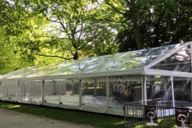 Emplacement Tente 10x25m transparente – 250m² - Chapiteau - Pagode - Tonelle