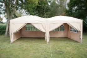 Emplacement Tentes beiges - chapiteaux - tonnelles pour vos événements, foires, salons, réceptions...
