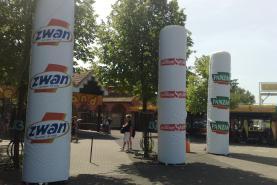 Emplacement Grandes colonnes gonflables - Piliers géants pour événements - PLV et éclairage possible