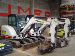 Location Mini-pelles ou excavatrices - Machines de chantier pour secteur de la construction - Pelle hydraulique Bobcat