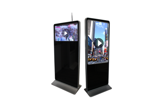 Location Totem vidéo paysage 32 et 42 pouce- écran haute définition LCD FULL HD