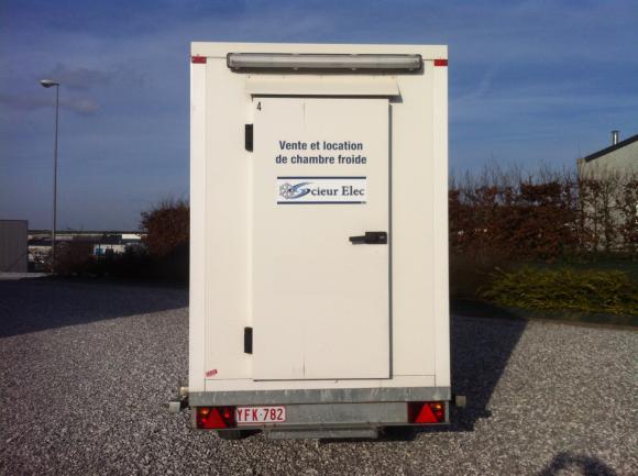 Location remorque frigorifique / chambre froide mobile - 10 m3 max